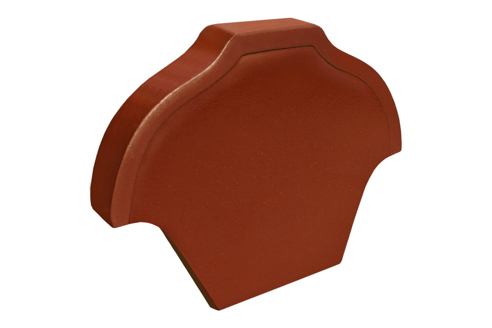 Završna pločica žlebnjaka bordo